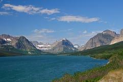 Alpine mountains and lake Stock Image