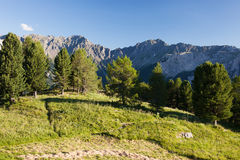 Alpine mountains landscape Stock Image