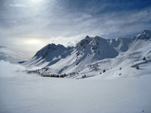 Alpine mountains in winter Royalty Free Stock Image