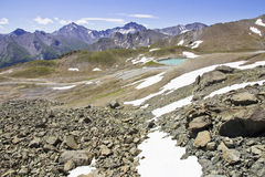 Alpine Moutains at Summer Time Stock Photography