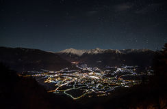 Alpine nightsky Stock Image