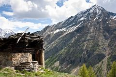 Alpine old house Royalty Free Stock Photography