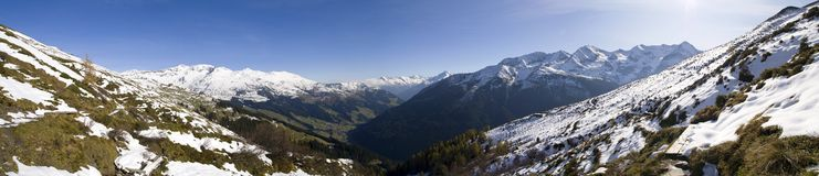 Alpine panorama Royalty Free Stock Photography
