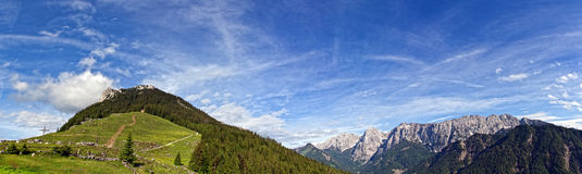 Alpine panorama Royalty Free Stock Photo