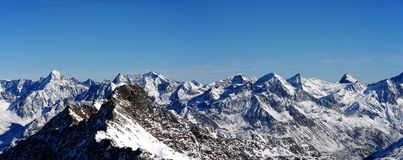 The Alpine panorama Royalty Free Stock Images