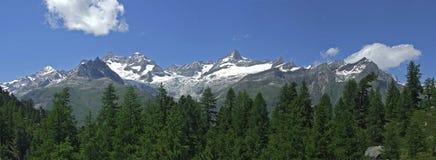 Alpine panorama Royalty Free Stock Image