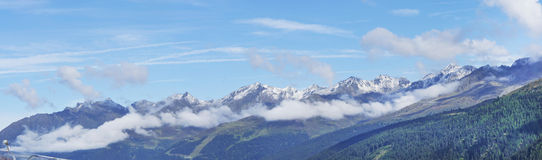 Alpine Panorama Royalty Free Stock Photos
