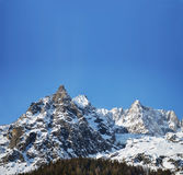 Alpine panorama with copy space Stock Photos