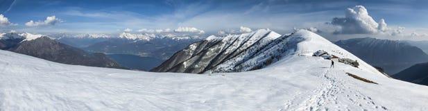 Alpine panorama Royalty Free Stock Images