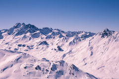 Overlooking Ischgl Ski Resort Stock Images