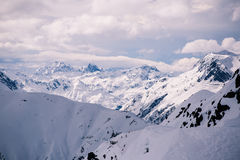 Overlooking Ischgl Ski Resort Stock Image