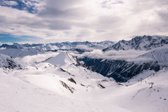 Overlooking Ischgl Ski Resort Stock Photography