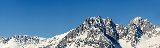 Alpine panorama with space for copy stock photo
