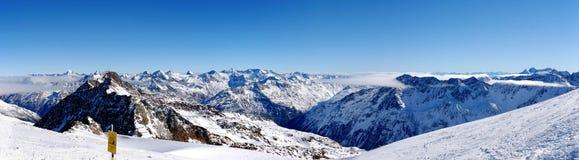 The Alpine panorama2 Royalty Free Stock Image