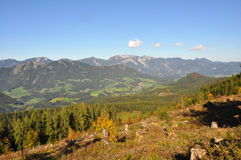 Alpine panoramic landscape in austria Royalty Free Stock Photography
