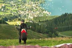 Alpine Paragliding Stock Image