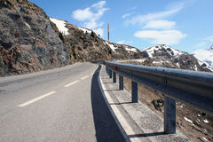 Alpine Pass. One of the highest passes in the Alps is Jaufen pass between Italy and Austria stock photos
