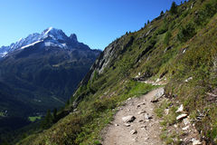 Alpine path Stock Image