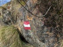 Alpine path sign Stock Photo