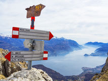 Alpine path signs Stock Photography