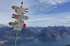 Alpine path signs Stock Photography