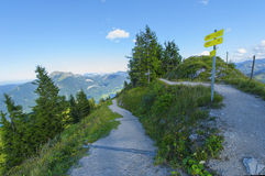 On the alpine paths Royalty Free Stock Images