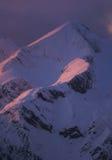 Alpine peak. On sunset in slovenian alps Royalty Free Stock Photo