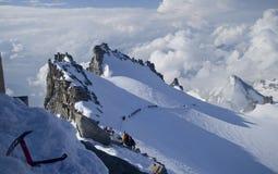 Alpine peak. Gran Paradiso peak (4061m) landscape in Alps Stock Photo
