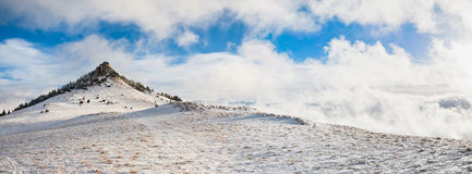 Alpine peak panorama Royalty Free Stock Photography