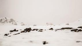Alpine peak with snow Stock Photo