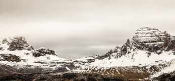 Alpine peak with snow Royalty Free Stock Photos