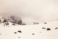 Alpine peak with snow Stock Photos