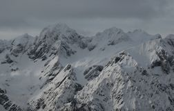 Alpine peaks. Peaks in slovenian alps covered in snow Stock Photography