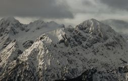Alpine peaks. Peaks in slovenian alps covered in snow Royalty Free Stock Images