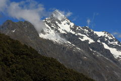 Alpine peaks in Fiordland National Park Stock Photography