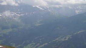 Alpine peaks landskape background. Jungfrau, Bernese highland. Alps, tourism and adventure hiking concept. Alpine peaks landskape background. Jungfrau, Bernese stock video