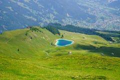Alpine peaks landskape background. Jungfrau, Bernese highland. Alps, tourism, journey, hiking concept. stock photos