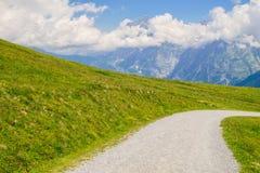 Alpine peaks landskape background. Jungfrau, Bernese highland. Alps, tourism, journey, hiking concept. royalty free stock images