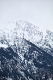 Alpine peaks in winter Royalty Free Stock Image