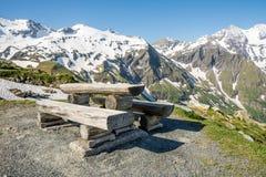 Alpine Picnic Area Stock Photo