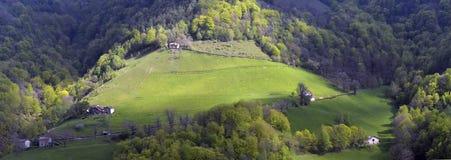 Alpine picturesque village high Royalty Free Stock Photos