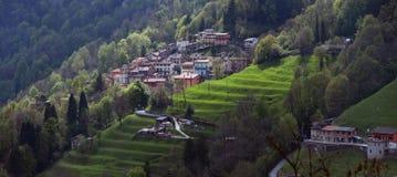 Alpine picturesque village high Stock Photography