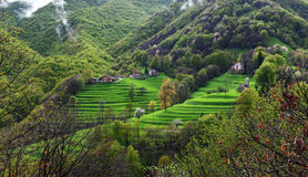 Alpine picturesque village Stock Images