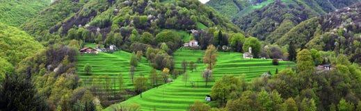 Alpine picturesque village Royalty Free Stock Photos