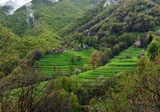 Alpine picturesque village Stock Photo