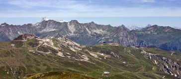 Alpine piste in summer Royalty Free Stock Images