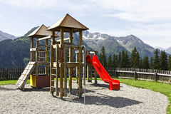 Alpine Playground stock image