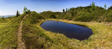 Alpine pond Royalty Free Stock Images