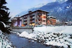 Alpine Rücksortierung, Chamonix, Frankreich, Stockfotografie