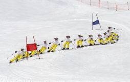 Alpine racing in the Alps. Stock Photos